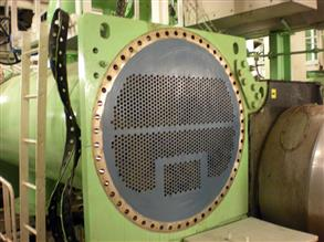 Heat exchanger tube sheet coated with Belzona