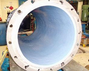 Pump internals after coating with Belzona 1341