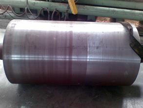 Drive roller with old rubber cladding removed