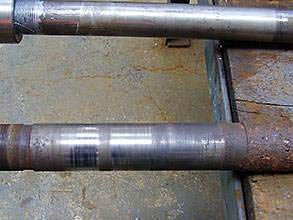 Damaged shaft
