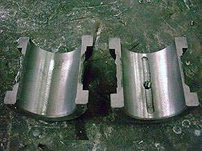 Damaged friction bearing