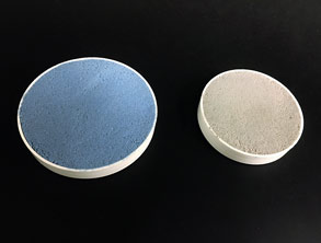 Belzona 5812DW mixed with Belzona 9241DW for NSF approved concrete rebuild applications in Blue and Grey colors